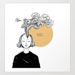 Always Thinking Art Print