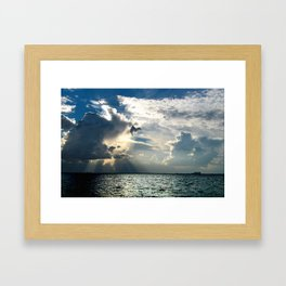 Coconut Grove Sailing Day Framed Art Print