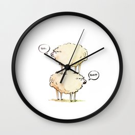 Dolly the Sheep (and Clone) Wall Clock