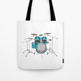Green Drum Kit Tote Bag
