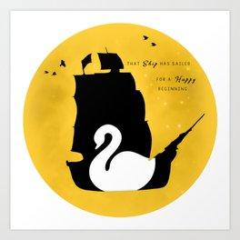 CAPTAIN SWAN (Yellow) Art Print