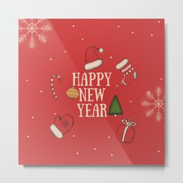 New Year, Cristmas, winter holidays Metal Print