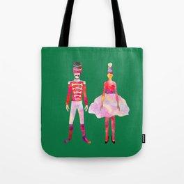 Nutcracker Ballet - Candy Cane Green Tote Bag