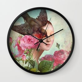The Silent Garden Wall Clock