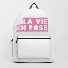 La vie en rose Backpack