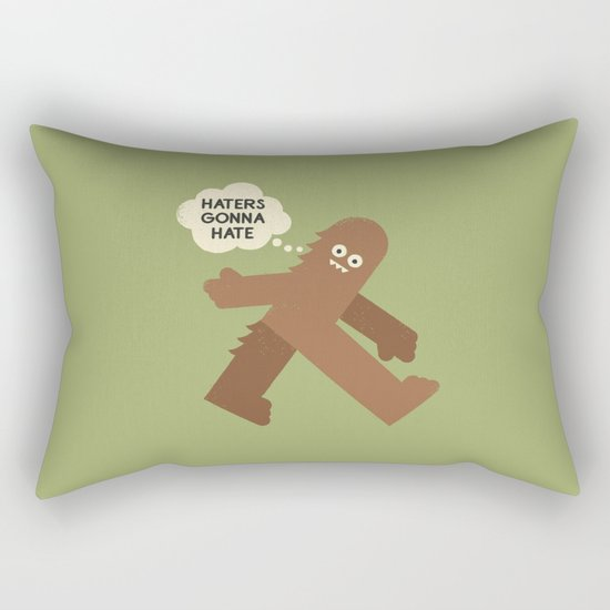 Bigfoot Has So Many Haters Rectangular Pillow