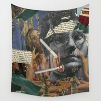 chuck Wall Tapestries featuring Chuck Gross by Strawberry Wastebasket