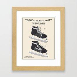 Hockey Skate Patent Framed Art Print