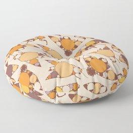 Fractal Cicada Swarm Floor Pillow