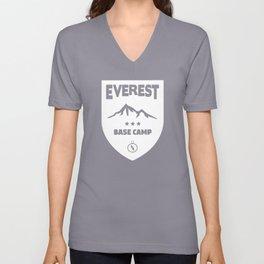 mount everest base camp Unisex V-Neck