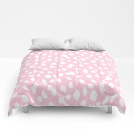 Dalmation in pink and white Comforters