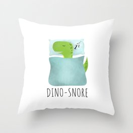 Dino-Snore Throw Pillow