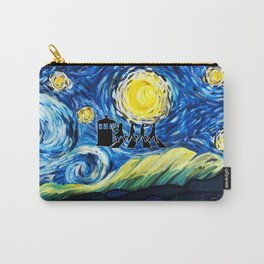 Tardis With The Doctors And Starry Night Carry-All Pouch