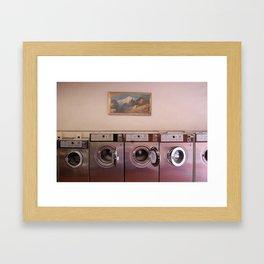 At the Laundromat Framed Art Print