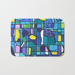 Seeing The World Through Colored Glass III Bath Mat