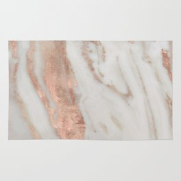 Marble Rose Gold Shimmery Marble Rug