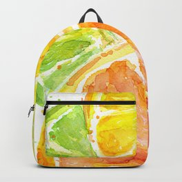 Fruit Watercolor Citrus Backpack
