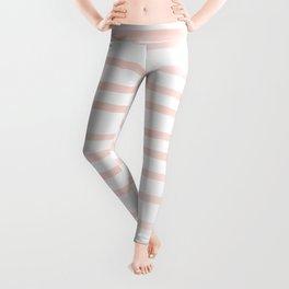 Seashell Pink Watercolor Stripes Leggings