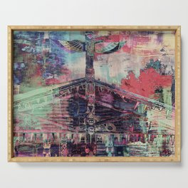 Totem Cabin Abstract - Multi Serving Tray
