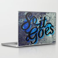 vonnegut Laptop & iPad Skins featuring So It Goes by Kelly Irene