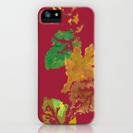 Fall Leaves with Red Background iPhone Case