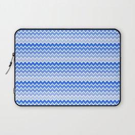 Blue Ombre Chevron Laptop Sleeve