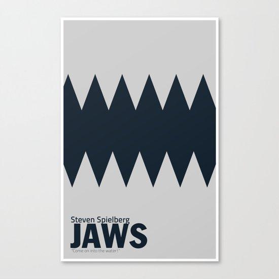 Jaws | Minimalist Poster Canvas Print