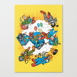 When Clown Cars Explode Canvas Print