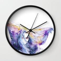 Big Bang in watercolor Wall Clock