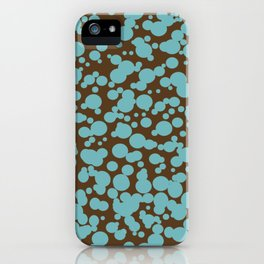 Bubbles in the Batter - Chocolate-Blue iPhone Case