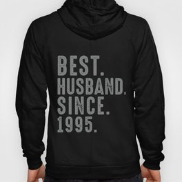 Best. Husband. Since. 1995 24th Wedding Anniversary for Him Hoody