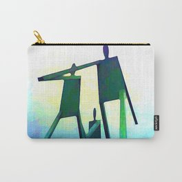 Philadelphia Stick Figure Family Carry-All Pouch
