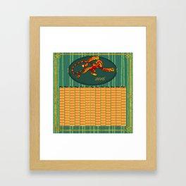 2016 Zodiac Calendar  Framed Art Print