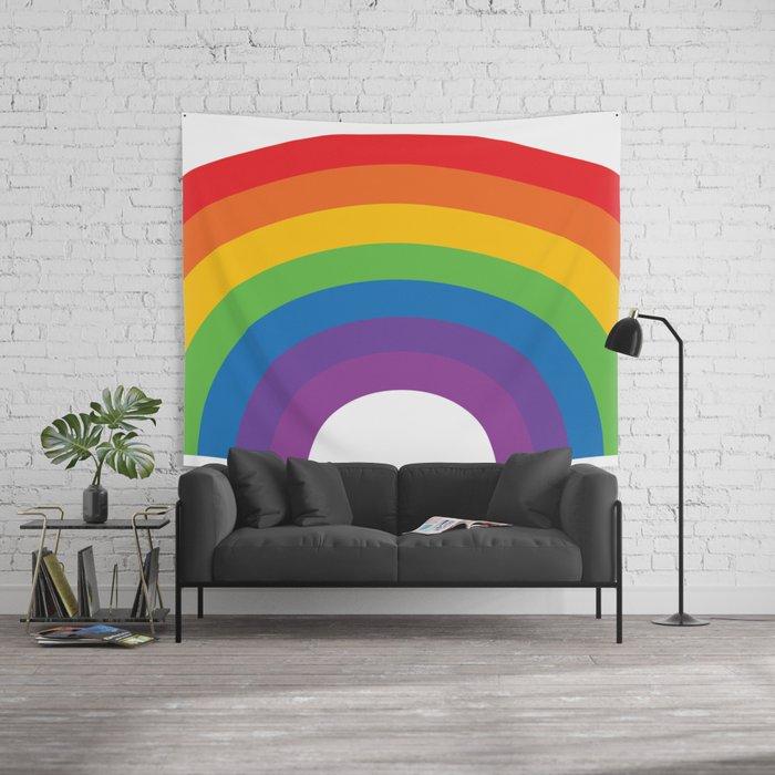 Old School Rainbow Wall Tapestry