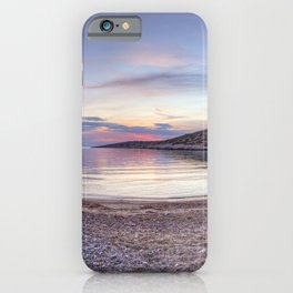 Sunset at the beach Kato Fana in Chios island, Greece iPhone Case