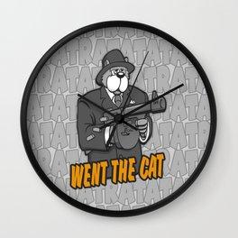 RATATATAT Went The Cat Wall Clock