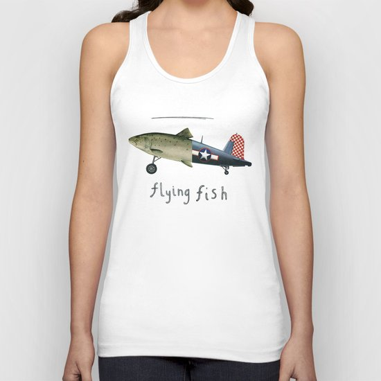 flying fish Unisex Tank Top