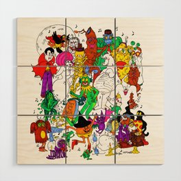 halloween party Wood Wall Art