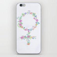 Feminist flower iPhone & iPod Skin