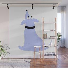 Blue Pig Dog Wall Mural