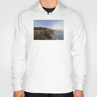 big sur Hoodies featuring Bixby Bridge at Big Sur by photographyk
