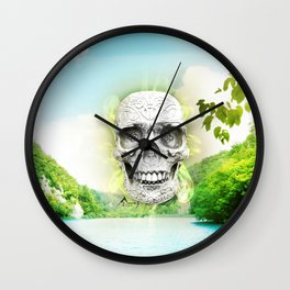 Skull Sun Wall Clock