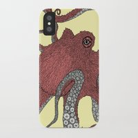 octopus iPhone & iPod Cases featuring Octopus by Amanda James