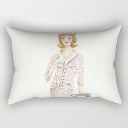 Coco and the Pillbox Hat Rectangular Pillow