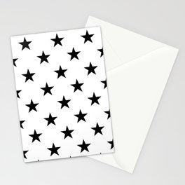 Stars (Black/White) Stationery Cards