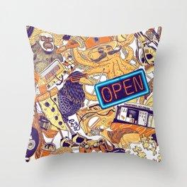 Urban Panel Throw Pillow