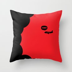 WTF? Avion! Throw Pillow
