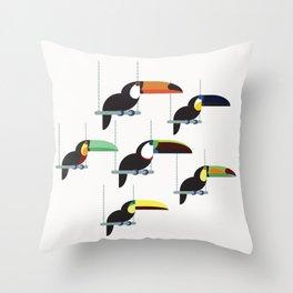 The toucans Throw Pillow