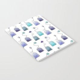 Blue tea bags Notebook