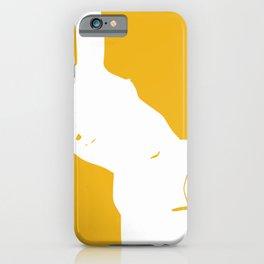 Nude in negative space iPhone Case
